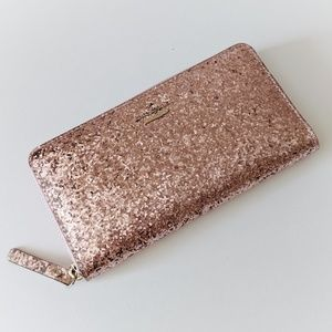 Kate Spade Glitter Bug Lacey Wallet - Rose Gold